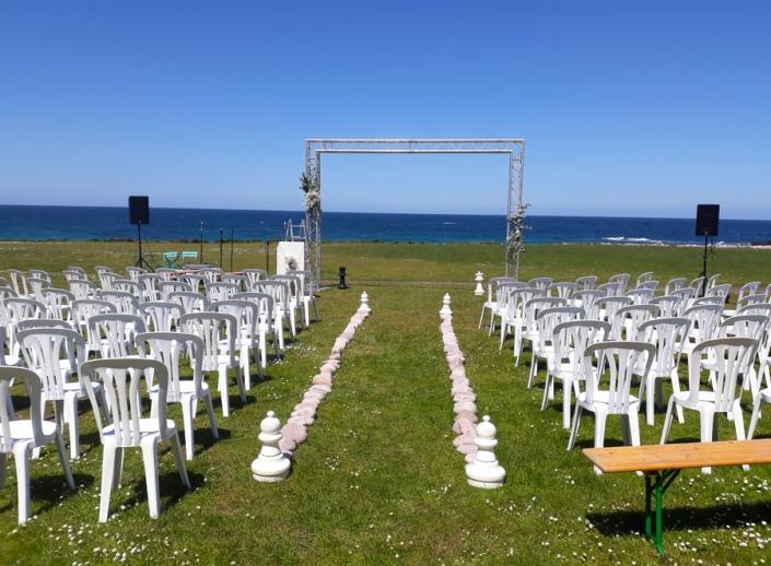 Arche de réception de mariage